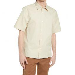 Standard Short Sleeve Button-Up Shirt_KHAKI