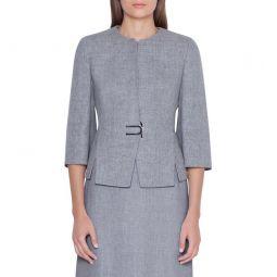 Double Face Linen & Wool Jacket