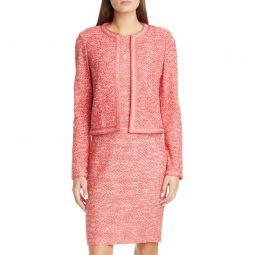 Marled Space Dye Tweed Knit Jacket