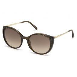 Cat Eye 55mm Sunglasses