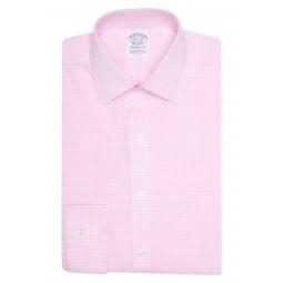 Check Print Non-Iron Stretch Cotton Regent Fit Dress Shirt