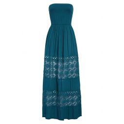 Farrah Smocked Cover-Up Maxi Dress