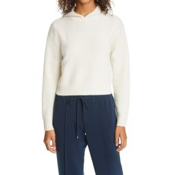 Boiled Cashmere Crop Hoodie