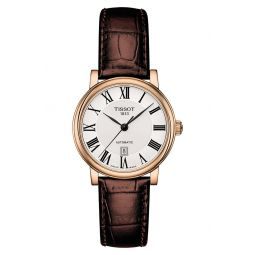 Carson Automatic Leather Strap Watch, 30mm