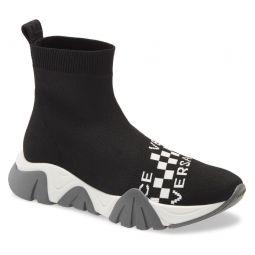 Squalo Alta Calzino Logo High Top Sock Sneaker