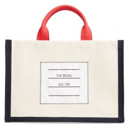 Name Tag Canvas Top Handle Tote
