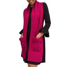pointy bow pocket scarf