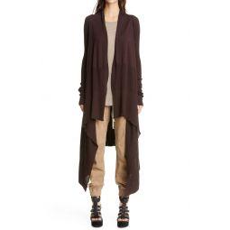 Long Asymmetrical Wool Cardigan