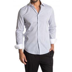 Bourne Fine Stripe Print Slim Fit Shirt