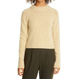 Shrunken Mock Neck Cashmere Sweater