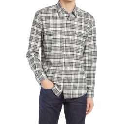 Alano Slim Cut Plaid Button-Up Shirt