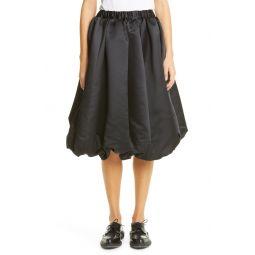 Black Satin Balloon Skirt