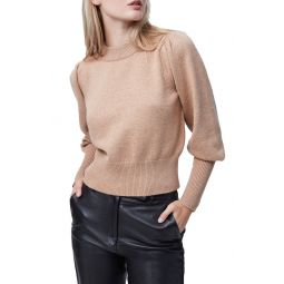 Puff Sleeve Crop Sweater