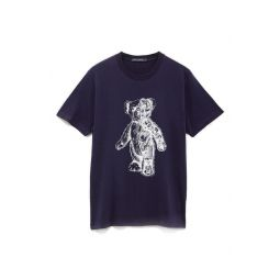 Mens Teddy Bear Robot Graphic Tee