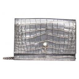 Metallic Calfskin Leather Crossbody Bag