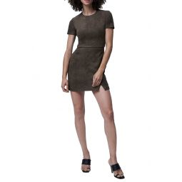 Patty Faux Suede Minidress