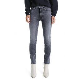 The Rascal High Waist Frayed Ankle Slim Jeans
