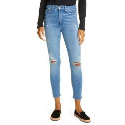 Nina Ripped High Waist Ankle Skinny Jeans