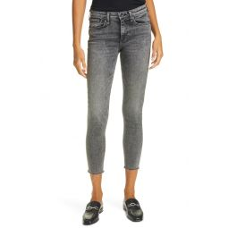 Cate Mid Rise Raw Hem Ankle Skinny Jeans
