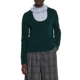 Scoop Neck Wool Sweater