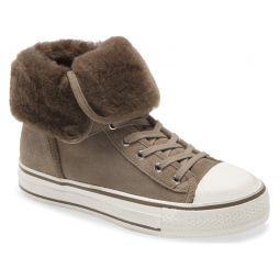 Vim Lace-Up High Top Sneaker with Genuine Shearling Trim