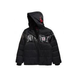 Kids Bold Stripe Puffer Jacket