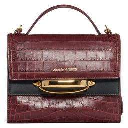 The Story Croc Embossed Leather Crossbody Bag