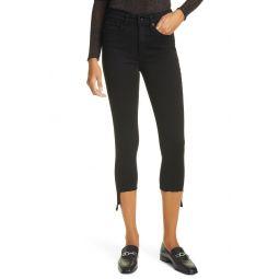 Nina High Waist Step Hem Crop Skinny Jeans