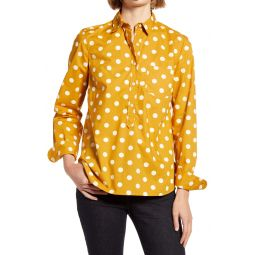 Print Cotton Poplin Popover Top