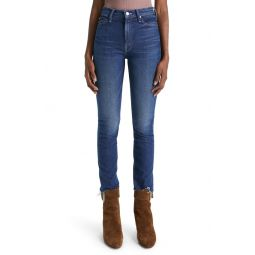 The Dazzler High Waist Frayed Ankle Skinny Jeans