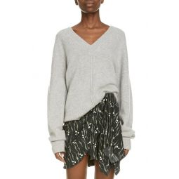 Oversize V-Neck Cashmere Blend Sweater