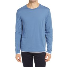 Slim Fit Double Layer Long Sleeve T-Shirt