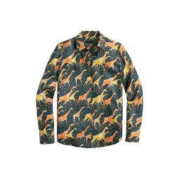 Collection Silk Twill Shirt in Giraffes