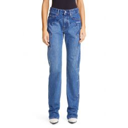 Texas Cool Embroidered High Waist Baggy Jeans