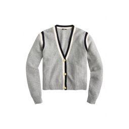 Cashmere Waffle Knit Cardigan Sweater