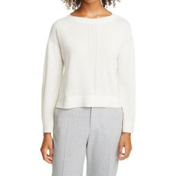 Pointelle Knit Cashmere Sweater