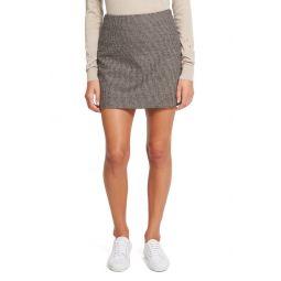 Wool & Linen Blend A-Line Miniskirt