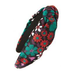 floral medley knot silk headband