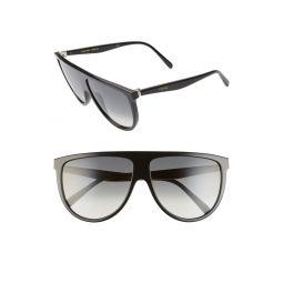 62mm Oversize Flat Top Sunglasses
