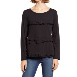 Vintage Ruffle Long Sleeve T-Shirt