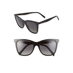 55mm Polarized Cat Eye Sunglasses