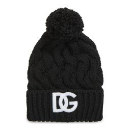 Logo Cable Knit Beanie