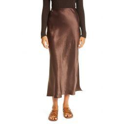 Side Slit Slip Midi Skirt