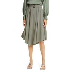 Belted Curved Hem Skirt