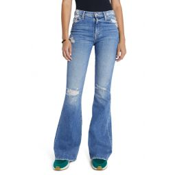 The Super Cruiser Ripped High Waist Flare Jeans