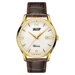 Heritage Visodate Leather Strap Watch, 40mm