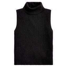 Ribbed Turtleneck Sweater Tank