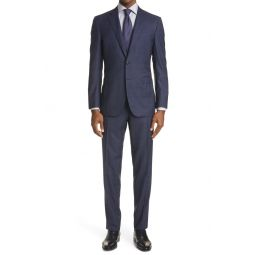 Milano Classic Fit Plaid Wool Suit
