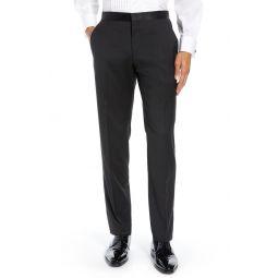 Josh Flat Front Wool & Mohair Tuxedo Pants