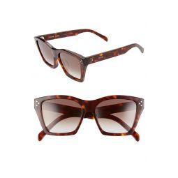 Adjusted Fit 56mm Cat Eye Sunglasses